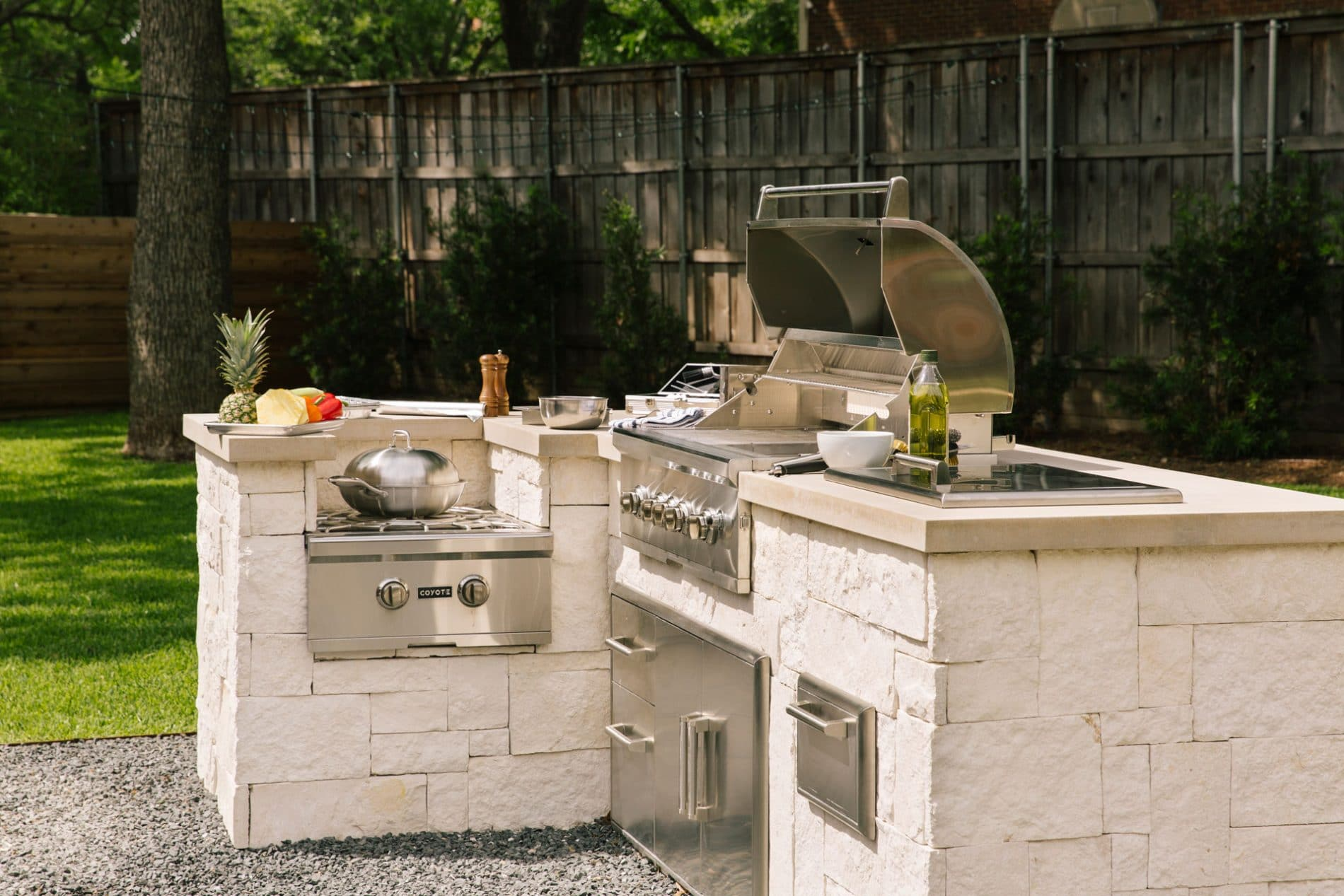 Single Pull Out Trash and Recycle (Model: CSTC) - Coyote ... on Coyote Outdoor Living Inc id=87459